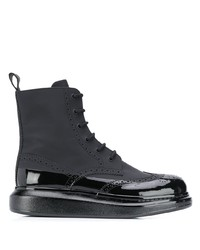 Alexander McQueen Contrast Sole Ankle Boots