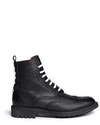 Givenchy Full Brogue Leather Derby Boots