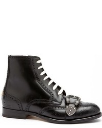 Gucci Iowa Buckle Strap Wingtip Boot