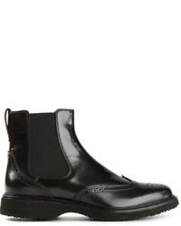 Hogan Brogue Chelsea Boots