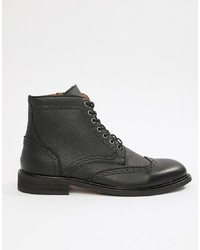 Selected Homme Leather Brogue Boot
