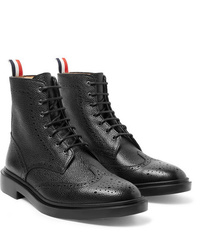 Thom Browne Pebble Grain Leather Wingtip Boots