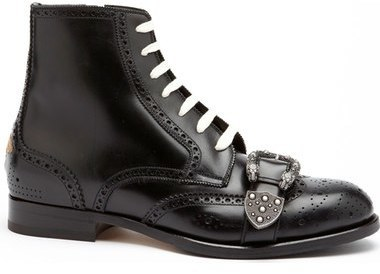 0cde3babc91 $1,550, Gucci Queercore Buckle Strap Wingtip Boot