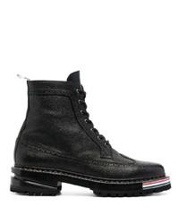 Thom Browne Rwb Stripe Lace Up Boots
