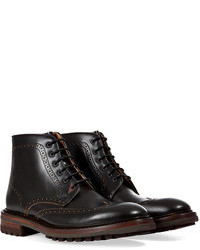 Paul Smith Shoes Leather Brogued Ankle Boots