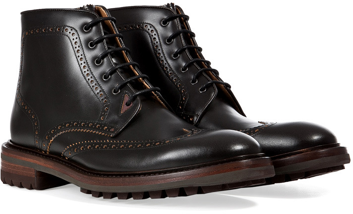 403dd3e2 $740, Paul Smith Shoes Leather Brogued Ankle Boots