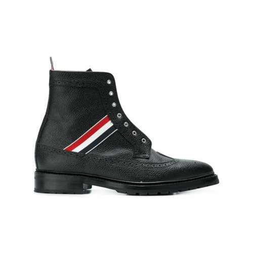 Thom Browne Striped Pebble Longwing Boot