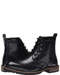 4c6d5bbbd2f Men's Black Leather Brogue Boots by Steve Madden | Men's Fashion ...