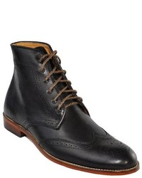 Tawny Goods Black Leather Wingtip Boot