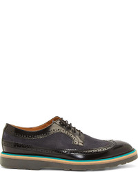 Paul Smith Black Blue Longwing Grand Brogues