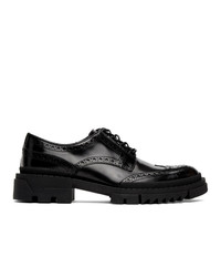 Versace Black Leather Brogues