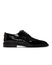 Burberry Black Patent Leather Lennard Brogues