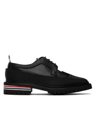 Thom Browne Black Vulcanized Longwing Brogues