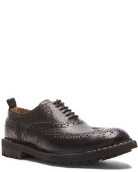 Givenchy Brogue Lace Up Leather Dress Shoes