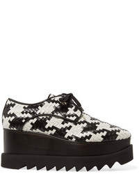 Stella McCartney Elyse Houndstooth Faux Leather Platform Brogues Black