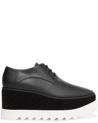 Elyse velvet trimmed faux leather platform brogues black medium 5082842