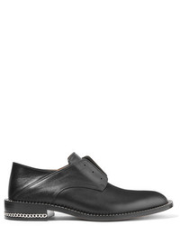 Givenchy Chain Trimmed Leather Brogues Black