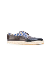 Etro Houndstooth Espadrille Brogues