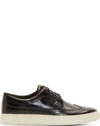Paul Smith Jeans Black Ontario Brush Off Merced Brogues