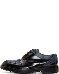 0412ff47c3 ... Kris Van Assche Krisvanassche Black Leather Brogued Shoes
