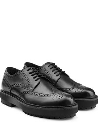 Tod's Leather Brogues With Platform Sole