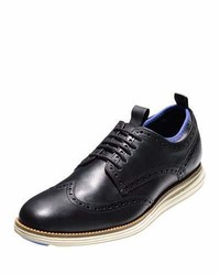 Originalgrand neoprene lined wing tip oxford blackironstone medium 962337