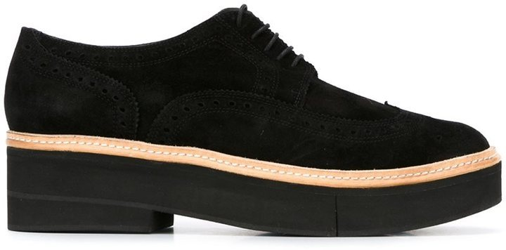 7f70f0815bb Safel Platform Brogues. Black Leather Brogues by Robert Clergerie