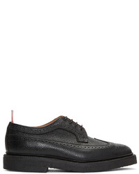 Thom Browne Black Classic Longwing Crepe Sole Brogues