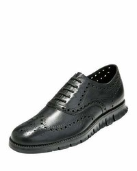 Cole Haan Zergrand Wing Tip Oxford Black