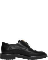 Giuseppe Zanotti Design Zip Up Wing Tip Brogue Leather Shoes
