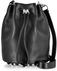 Alexander Wang Alpha Black Leather Bucket Bag