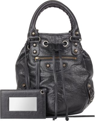 Arena Classic Ponpom Bucket Bag Black