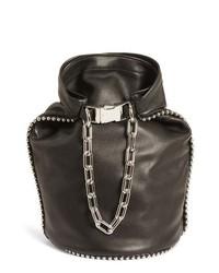 Alexander Wang Attica Dry Sack Leather Bucket Bag