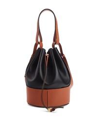 Loewe Balloon Colorblock Leather Bucket Bag
