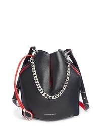 Alexander McQueen Bicolor Leather Bucket Bag