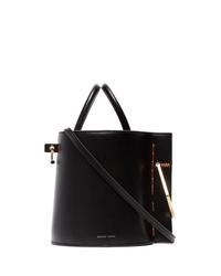 Danse Lente Black Bobbi Leather Bucket Bag