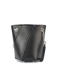Proenza Schouler Black Hex Mini Leather Bucket Bag