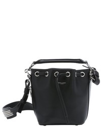 Saint Laurent Black Leather Emmanuelle Bucket Bag