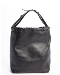 Celine Black Leather Large Bucket Shoulder Bag
