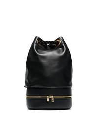 Sacai Black Pool Leather Bucket Bag