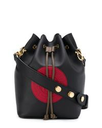 Fendi Black Red And Brown Mon Tresor Bucket Bag