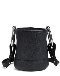 Simon Miller Bonsai Pebbled Leather Crossbody Bucket Bag Black