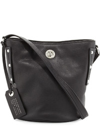 Marc by Marc Jacobs C Lock Leather Bucket Bag Black
