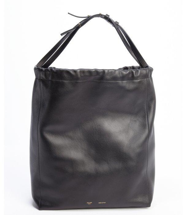 original celine handbags - Celine Black Leather Large Bucket Shoulder Bag   Where to buy ...