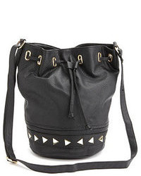 Charlotte Russe Studded Faux Leather Bucket Bag