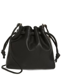 Clare v petite henri leather bucket bag black medium 4354305