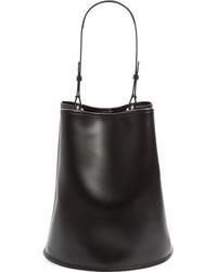Creatures of Comfort Large Calfskin Leather Bucket Bag Black