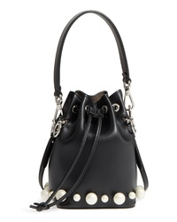 Fendi Imitation Pearl Calfskin Bucket Bag