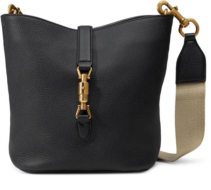 d151f40d8c12 Gucci Jackie Soft Leather Bucket Bag Black, $2,600 | Neiman Marcus ...