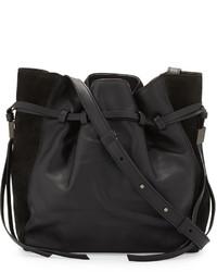 Boyy Lazar Leather Bucket Bag Black
